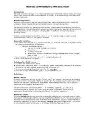 MELODIC COMPOSITION & IMPROVISATION - Jkornfeld.net