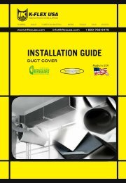 installation guide duct cover - K-Flex USA