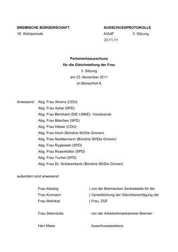 Protokoll der 3. Sitzung vom 23.11.2011 (pdf, 54.8 KB)