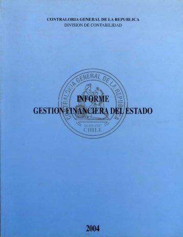 informe gestión financiera - año 2004 - Contraloría General de la ...
