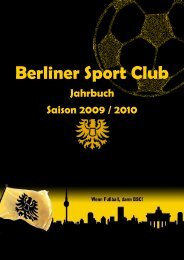 Das Team - Berliner SC