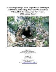 Monitoring Nesting Golden Eagles for the ... - Hawks Aloft Inc.