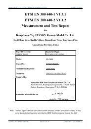 ETSI EN 300 440-1 V1.3.1 ETSI EN 300 440-2 V1.1.2 Measurement