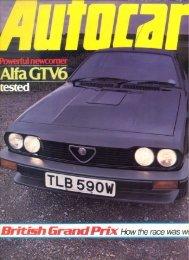 Autocar, Nr 155 (GB), 1981 - GTV6 et 156 GTA
