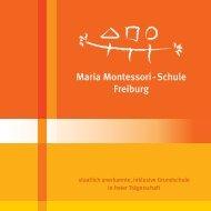 Schulflyer Grundschule - Maria Montessori-Schule Freiburg