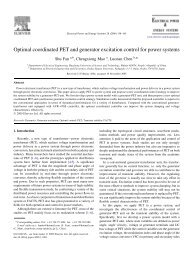 Optimal coordinated PET and generator excitation control for power ...