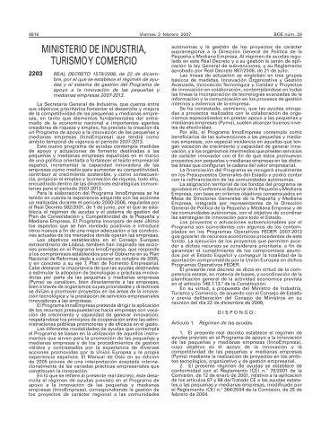 Real Decreto 1579/2006, de 22 de diciembre - BOE.es