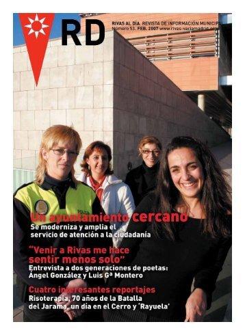 rd nº 53 febrero 2007 pdf - Ayuntamiento Rivas Vaciamadrid