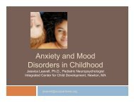Anxiety and Mood Disorders in Childhood - Needham SEPAC