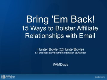 15 Ways to Bolster Affiliate Relationships with Email