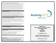 Therapy Services brochure - Anxiety UK