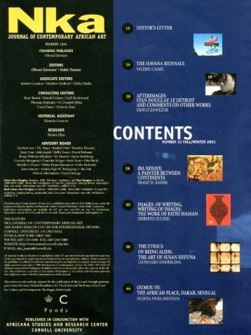 TOC (PDF) - Nka Journal of Contemporary African Art