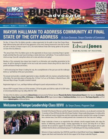 The Business Advocate Nov. 2011 - Tempe Chamber of Commerce