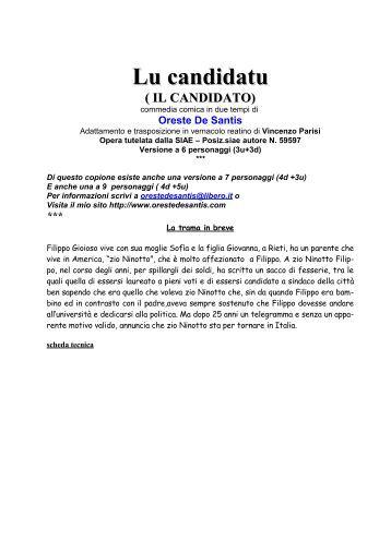 IL Copione in dialetto Reatino ( 3u + 3d) - Oreste De Santis