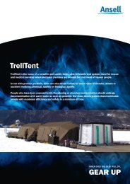 TrellTent brochure - Ansell Protective Solutions