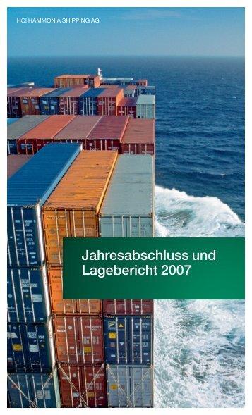 Jahresabschluss und Lagebericht 2007 - hci hammonia shipping ag
