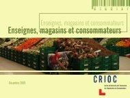 Enseignes, magasins et consommateurs - Crioc