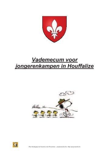 Vademecum voor jongerenkampen in Houffalize - PSSP