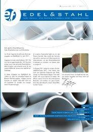 Edel&Stahl 02/2011 - E und F Metall und Rohrleitungsbau GmbH