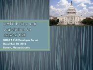 LIHTC Policy and Legislation on Capitol Hill