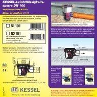 KESSEL-Leichtflüssigkeits- sperre DN 100