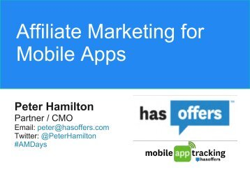 Affiliate Marketing for Mobile Apps - Affiliate Management Days