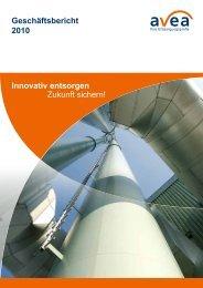 Geschäftsbericht 2010 Innovativ entsorgen Zukunft sichern! - AVEA