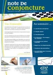 Note de conjoncture n°32 - 1er semestre 2011 - crma limousin