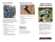 Guide to Female Soldier Readiness - U.S. Army Public Health ...