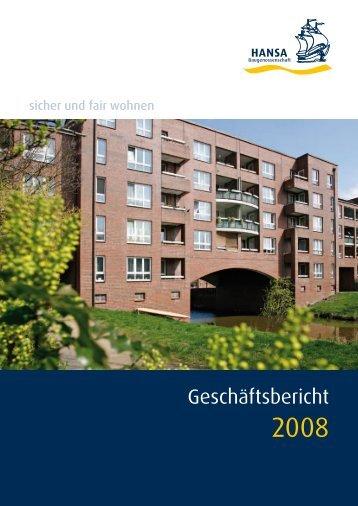 Geschäftsbericht - HANSA Baugenossenschaft eG