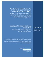 Building Immigrant Power - The Hyams Foundation