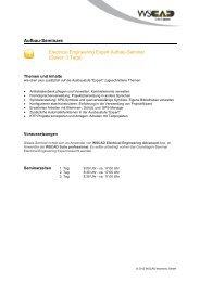 Aufbau-Seminare Electrical Engineering Expert Aufbau ... - wscad