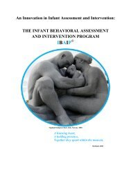 An Innovation in Infant Assessment and Intervention: THE ... - Ibaip.org