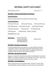 130 MSDS.pdf - Venture Tape