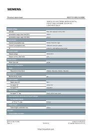 6ES7131-0BL10-0XB0 Datasheet - Northern Industrial