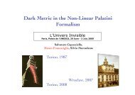 Dark Metric in the Non-Linear Palatini Formalism - Univers Invisible