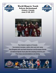 World Ringette Youth Selects Invitational - Selects Sports