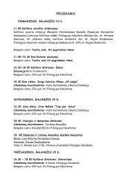 Detali renginių programa - VU naujienos