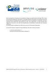 Mode d'emploi des outils (2013) - Fonds Social Européen en France