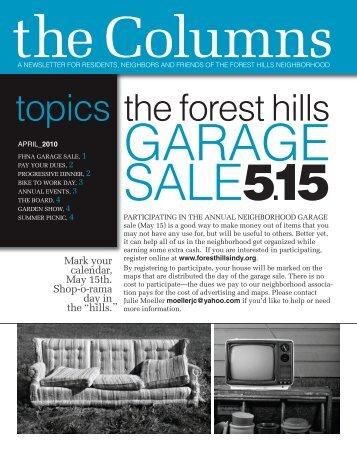 2010 April - Forest Hills Neighborhood Association