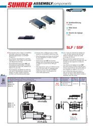 SLF / SSF - Suhner Automation Expert