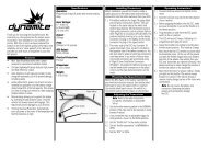 Mini Tazer Brushless ESC Instruction Manual - Robot MarketPlace