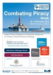 Combating Piracy - Society of Maritime Industries