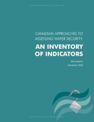 AN INVENTORY OF INDICATORS - Program on Water Governance