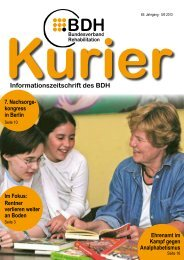 Kurier 5/6 2013 - BDH Bundesverband Rehabilitation