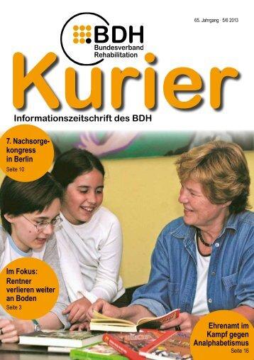 Kurier 5/6 2013 - BDH Bundesverband Rehabilitation