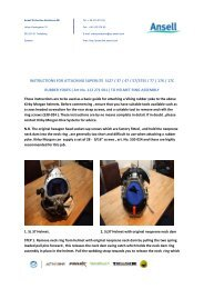 Fitting instructions for helmet to yoke within the manuals section