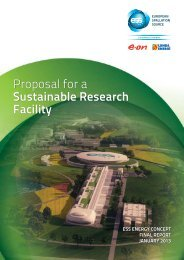 Proposal for a Sustainable Research Facility - ESS