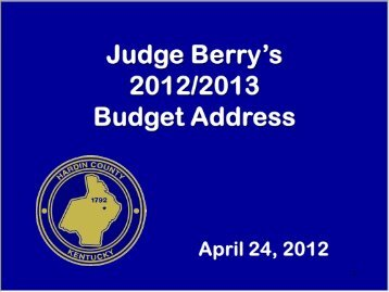 2012/2013 Revenue - Hardin County Government