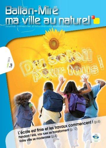 Magazine N°19 de Juillet 2013 (pdf - 8,26 Mo) - Ballan-Miré